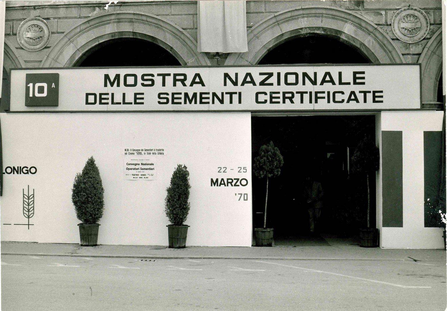 Loggiato Palazzo Del Popolo Mostra Nazionale Delle Sementi Strampelli Anni 70